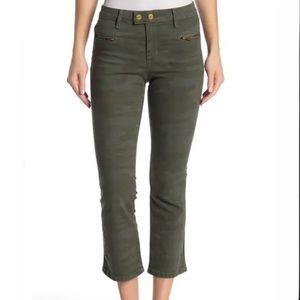NWT Sanctuary camo connector kick crop jeans